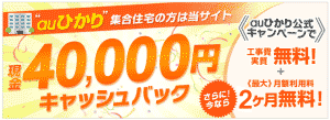 「auひかり」は安くて速いインターネット回線!